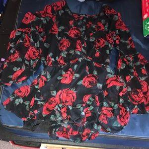 XL rose romper